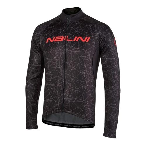 Bluza kolarska Nalini Logo TI czarno czerwona 4000