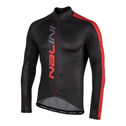 Bluza kolarska Nalini LW czarno-czerwona 4100