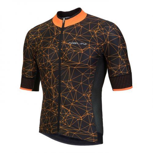 Koszulka kolarska Nalini Naranco pomarańczowo-czarna 4150