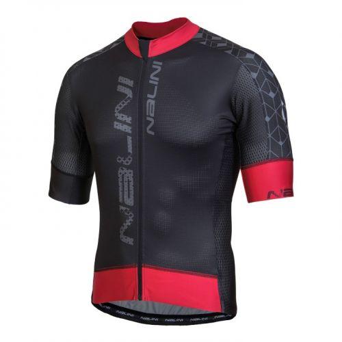 Koszulka kolarska Nalini Velocita czarno-czerwona 4000