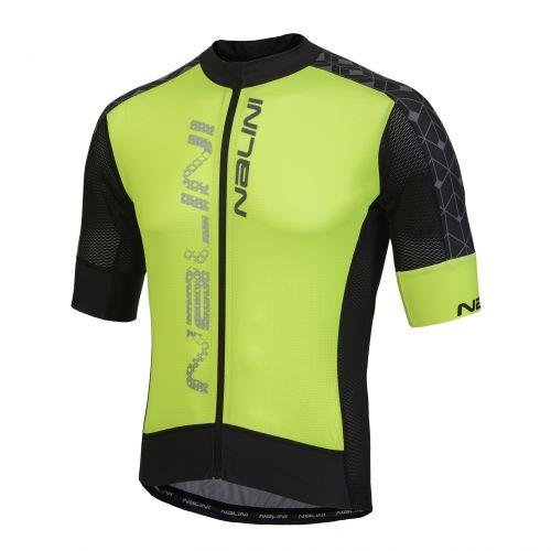 Koszulka kolarska Nalini Velocita żółto-czarna 4050