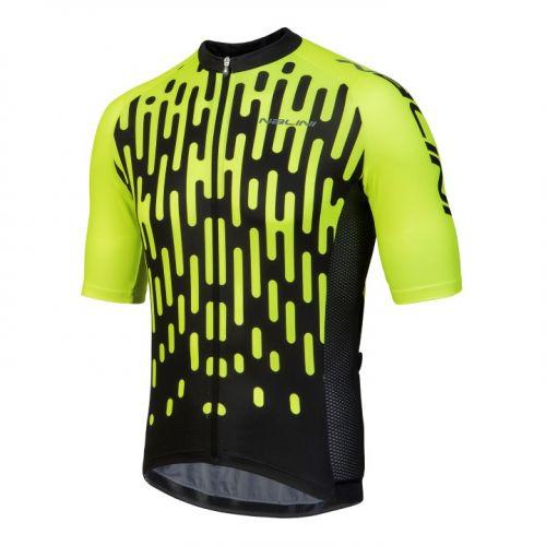 Koszulka kolarska Nalini Podio żółto-czarna 4050