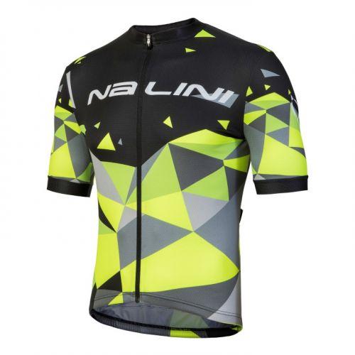 Koszulka kolarska Nalini Discesa żółto-czarna 4000