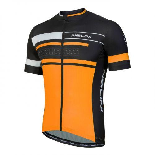 Koszulka kolarska Nalini Vittoria pomarańczowo-czarna 4150