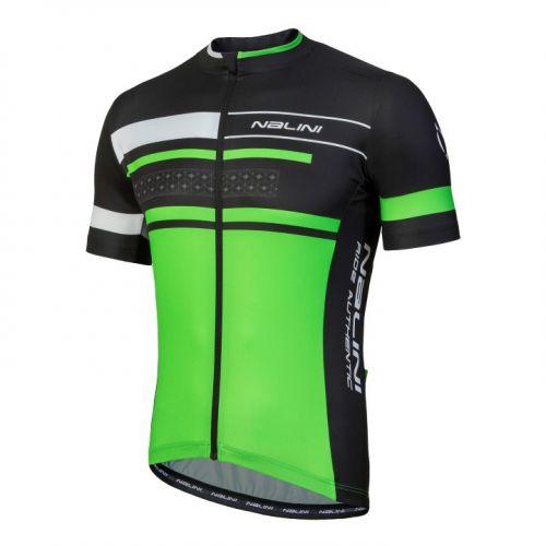 Koszulka kolarska Nalini Vittoria zielono-czarna 4400