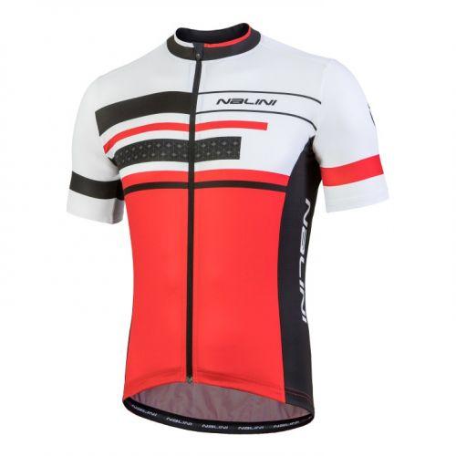 Koszulka kolarska Nalini Vittoria biało-czerwono-czarna 4100