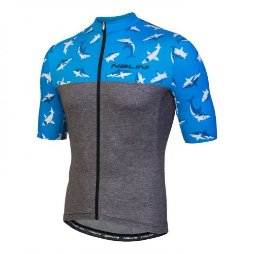Koszulka kolarska Nalini Centenario szaro-niebieska 4200