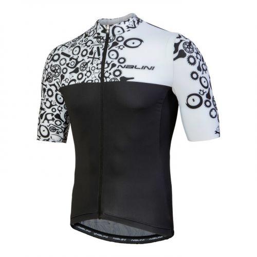 Koszulka kolarska Nalini Centenario biało-czarna 4020