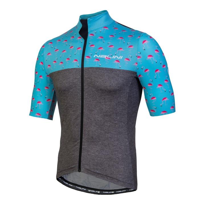 Koszulka kolarska Nalini Centenario niebiesko-szara 4180