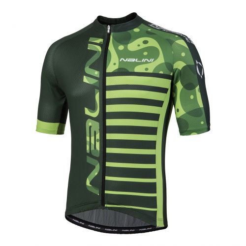 Koszulka kolarska MTB Nalini Cross zielono czarna 4050