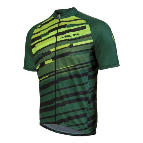 Koszulka kolarska MTB Nalini Tiliment zielono-czarna 4400