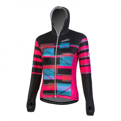 Bluza kolarska damska Nalini Affascinante czarno-różowa 4000