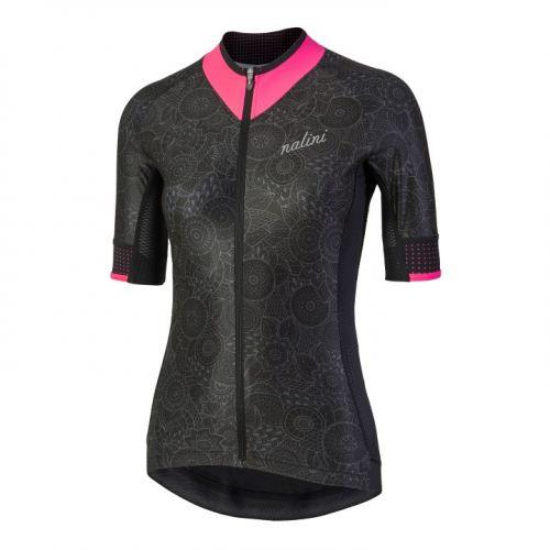 Koszulka kolarska damska Nalini Raffinata czarno-różowa 4000