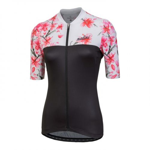 Koszulka kolarska damska Nalini Moderna biało-czarno-różowa