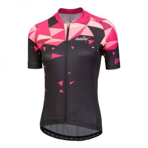 Koszulka kolarska damska Nalini Chic czarno-różowa 4000