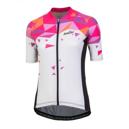 Koszulka kolarska damska Nalini Chic biało-różowa 4020