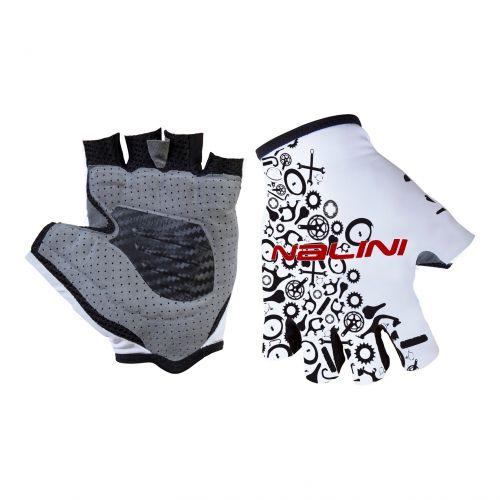 Rękawiczki kolarskie Nalini Vetta biało-czarne 4020