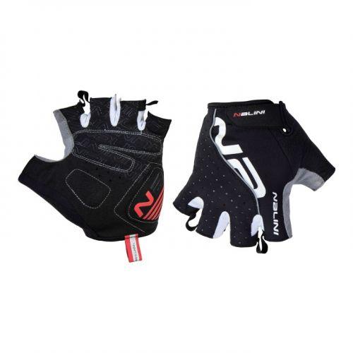 Rękawiczki kolarskie Nalini Red czarne 4000