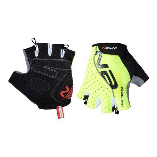 Rękawiczki kolarskie Nalini Red żółte fluoroscencyjne 4050