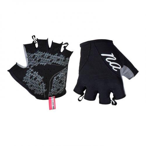 Rękawiczki kolarskie damskie Nalini Pink czarne 4000