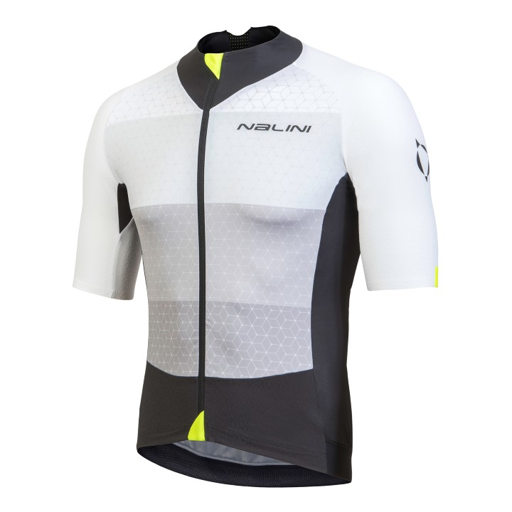 Koszulka kolarska Nalini Stelvio biało-czarna 4000