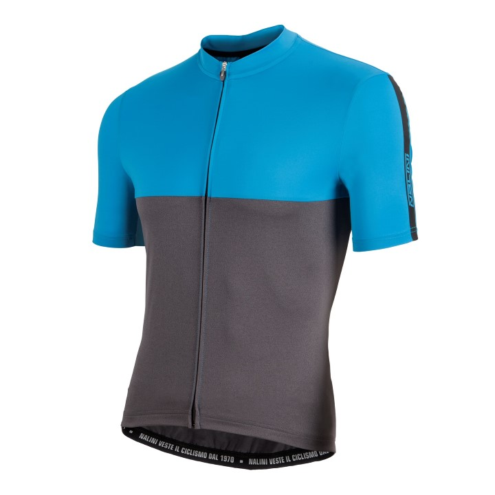 Koszulka kolarska Nalini Mantova niebiesko-szara