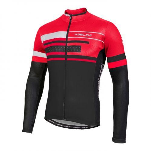 Bluza kolarska Nalini Fatica czerwono-czarna 4100