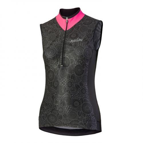Koszulka kolarska damska Nalini Elegante czarno-różowa 4000