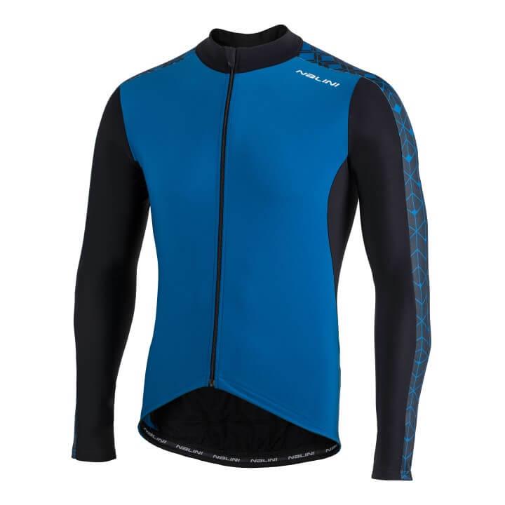 Bluza kolarska Nalini W niebiesko czarna 4250NalWJersey_4200_front (Custom)