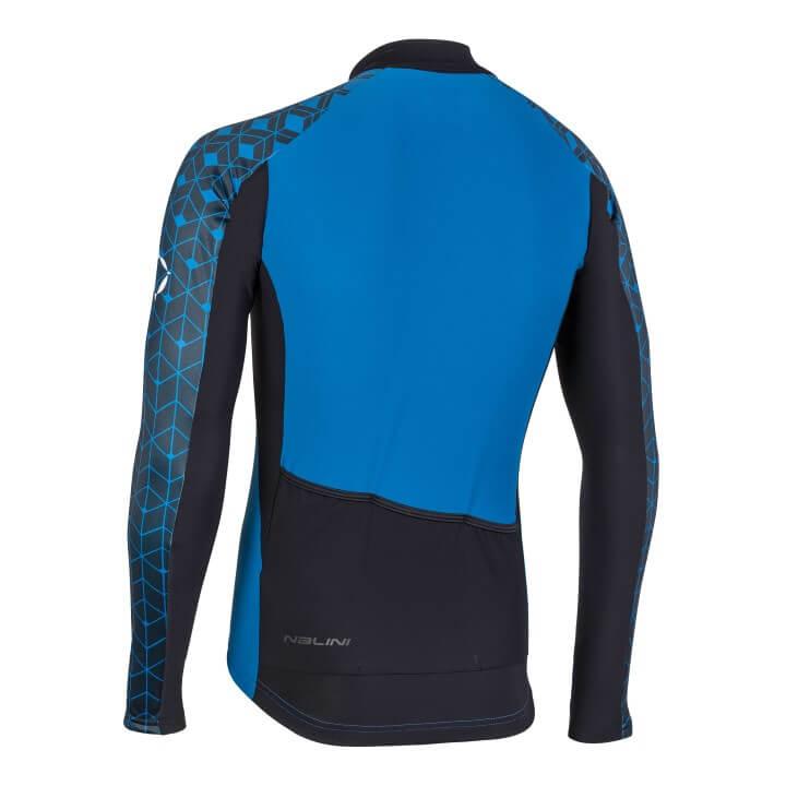 Bluza kolarska Nalini W niebiesko czarna 4250NalWJersey_4200_back (Custom)