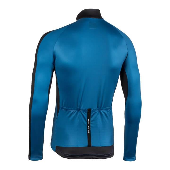 Bluza kolarska Nalini LW niebiesko czarna 4200_4200_back (Custom)
