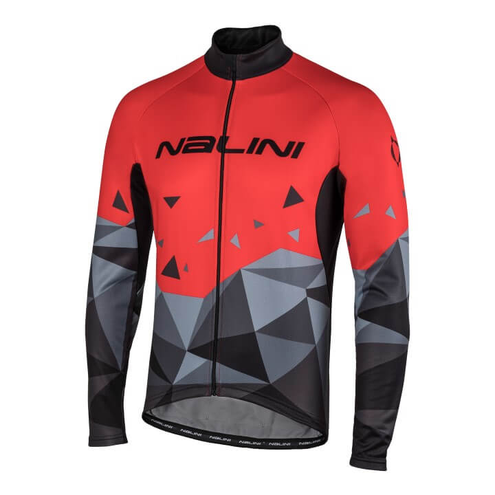 Bluza-kolarska-Nalini-Logo-czarno-czerwona-4100_LogoJersey_4100_front (Custom)
