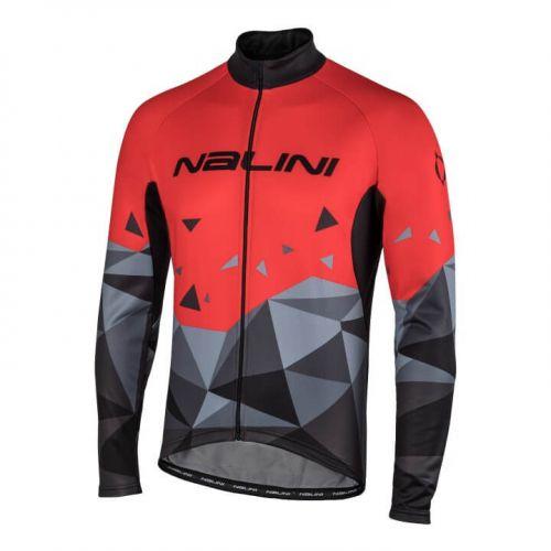 Bluza kolarska Nalini Logo czarno czerwona 4100
