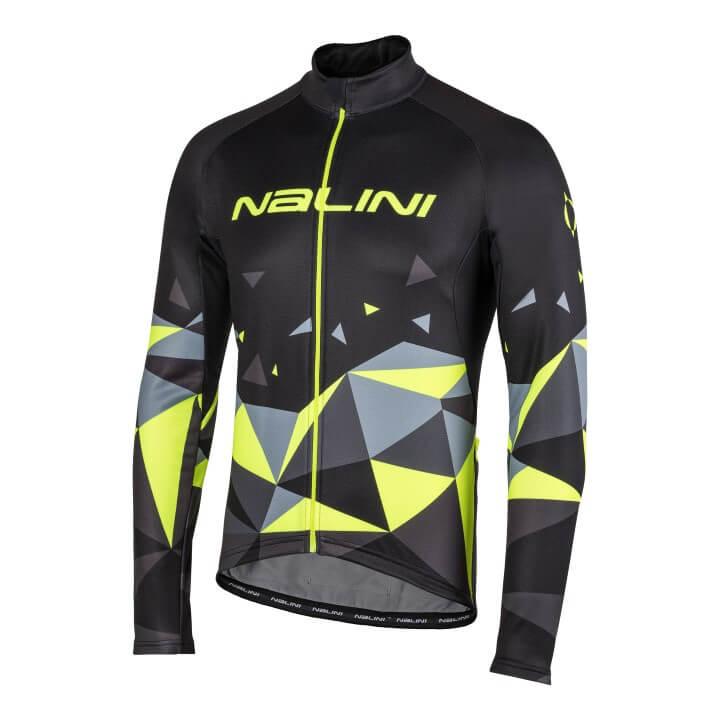 Bluza kolarska Nalini Logo czarno zolta 4050_4050_front (Custom)