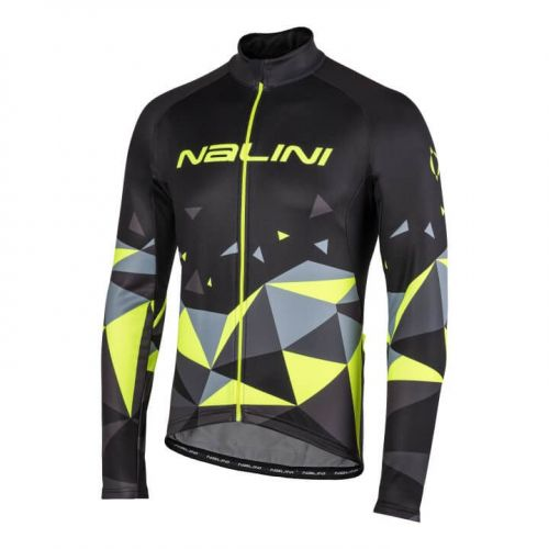 Bluza kolarska Nalini Logo czarno żółta 4050