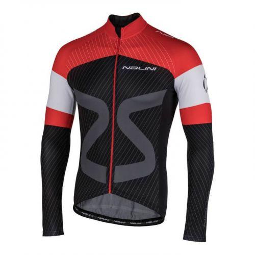 Bluza kolarska Nalini TC LS czarno czerwona 4100