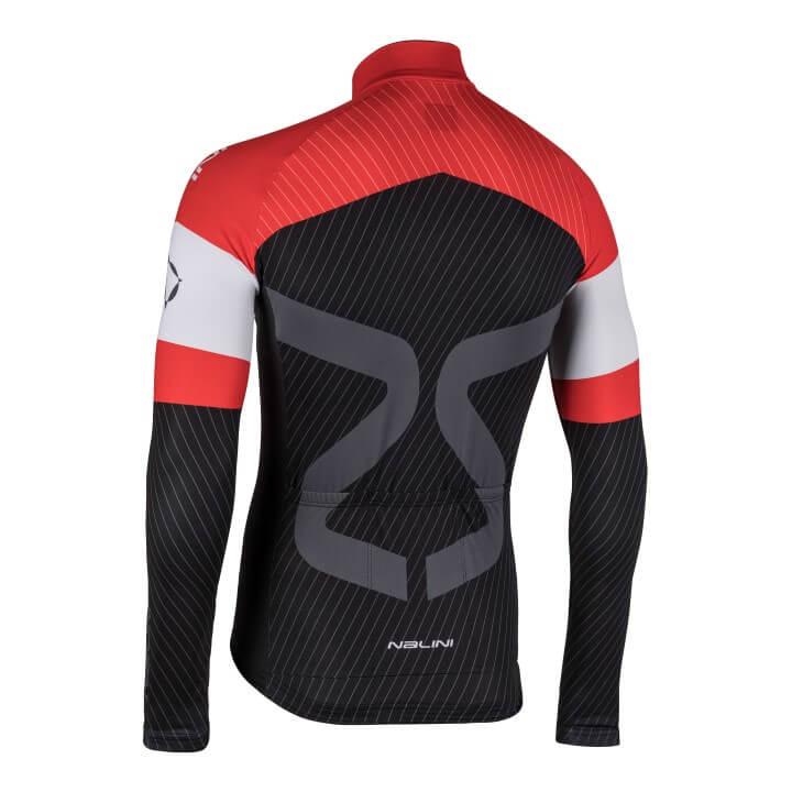 Bluza kolarska Nalini TC LS czarno czerwona 4100TCTi_4100_back (Custom)