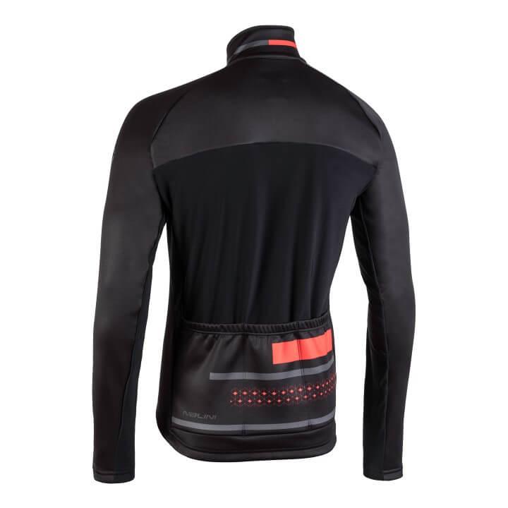Kurtka kolarska AHW WS Classica czarno czerwona 4000WSClassica_Jkt_4100_back (Custom)