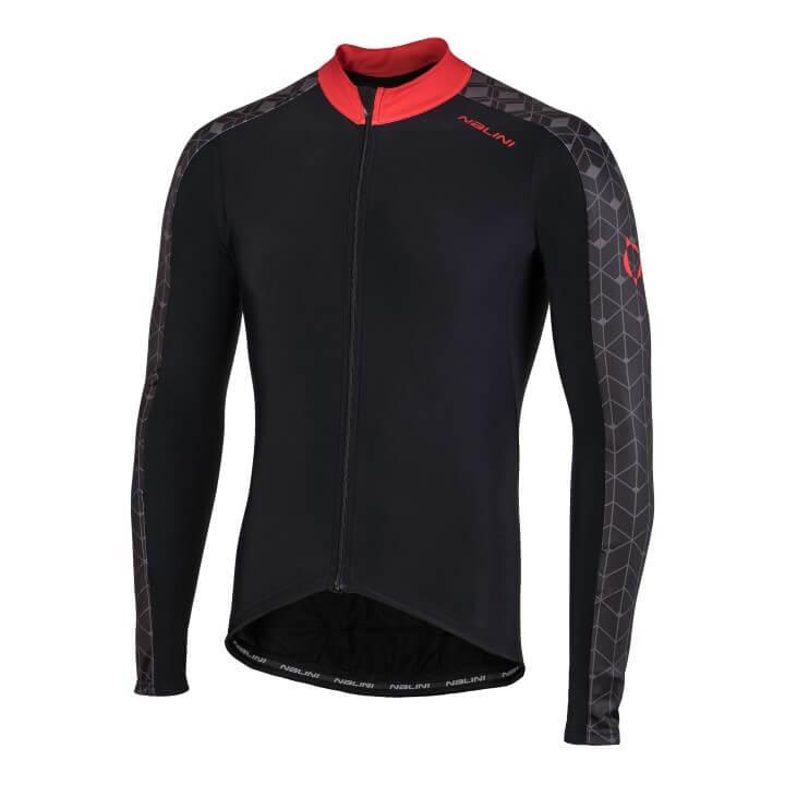Bluza kolarska Nalini W czarno czerwona 4100_NalWJersey_4100_front (Custom)
