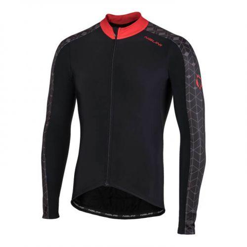Bluza kolarska Nalini W czarno czerwona 4100