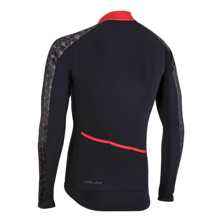 Bluza kolarska Nalini W czarno czerwona 4100_NalWJersey_4100_back (Custom)