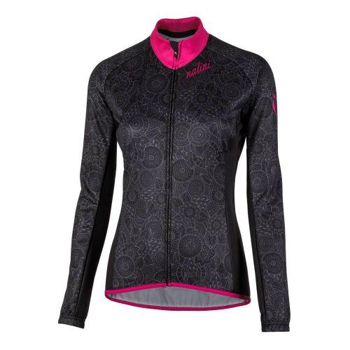 Damska bluza kolarska Nalini Lady Jersey różowo-czarna 4700